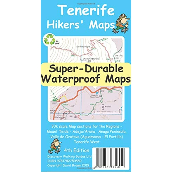 Tenerife Hikers' Super-Durable Maps  Sheet map, folded 2019