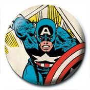 Marvel Retro - Captain America Clipping Badge