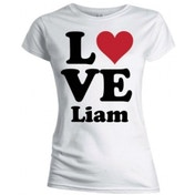 One Direction 'Love Liam' Women's Large Skinny T-Shirt - White