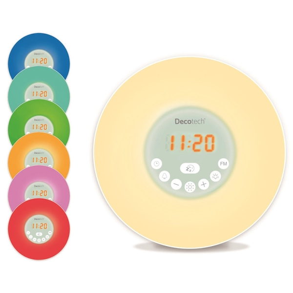 Lexibook RL998 Decotech Sunrise Colour Alarm Clock Radio with Wake Up Light