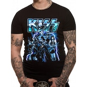 KISS - Lightning Men's Small T-Shirt - Black