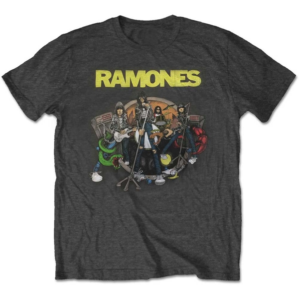 Ramones - Road to Ruin Unisex Large T-Shirt - Grey