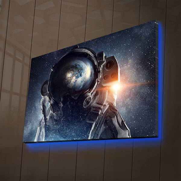 NASA-016 Multicolor Decorative Led Lighted Canvas Painting