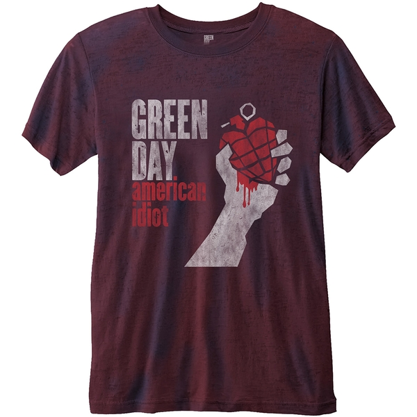 Green Day - American Idiot Unisex Large T-Shirt - Blue,Red