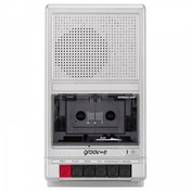 Groov-e GVPS550SR Retro Series Shoebox Cassette Player and Recorder Silver UK Plug