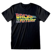 Universal - Back to the Future Vintage Logo Unisex Small T-Shirt - Black