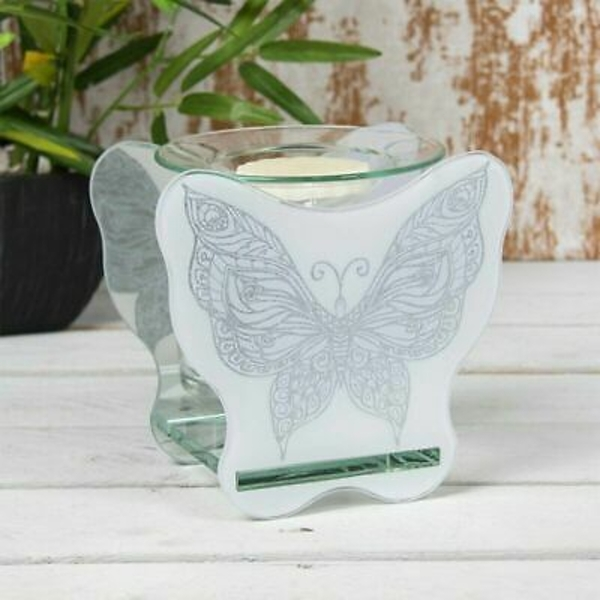 Glass Butterfly Wax Oil Warmer By Lesser & Pavey