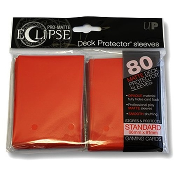 Ultra Pro PRO-Matte Eclipse Red Standard Card Sleeves - 80