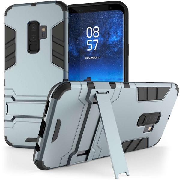 Samsung Galaxy S9 Plus Armour Kickstand Case - Steel Blue