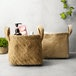 Cotton Jute Storage Baskets - Pack of 2 | M&W - Image 2