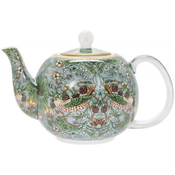 Strawberry Thief Teal Tea Pot By Lesser & Pavey
