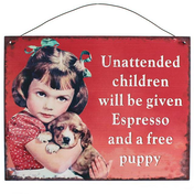 Unattended Children Metal Sign