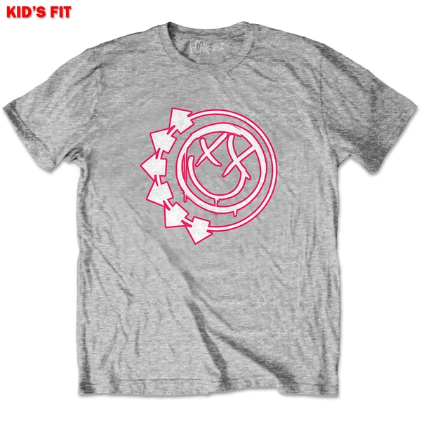 Blink-182 - Six Arrow Smiley Kids 11 - 12 Years T-Shirt - Grey