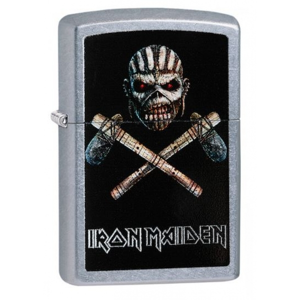 Zippo Iron Maidenn Eddie the Head Jolly Roger Street Chrome