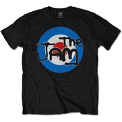 The Jam - Spray Target Logo Kids 5 - 6 Years T-Shirt - Black