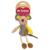 Rosewood Mr Twister Molly Mouse Soft Dog Toy