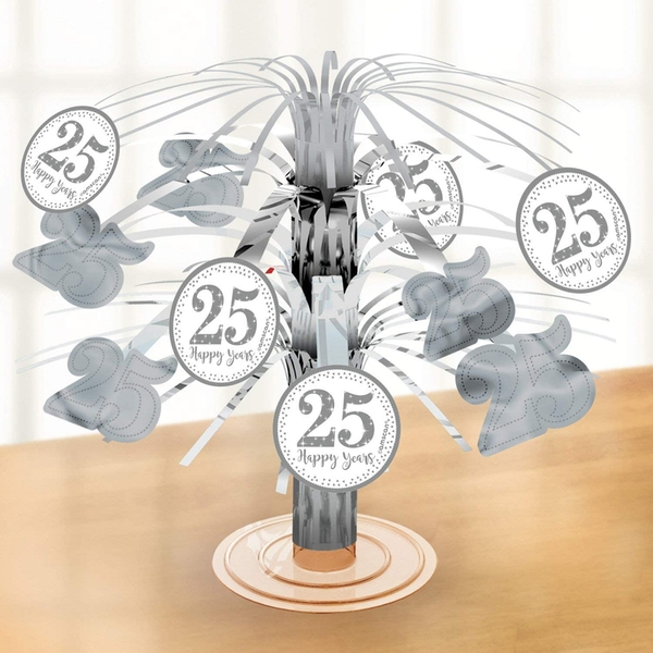 Table Centrepiece 25th Anniversaries (Silver)