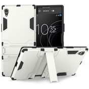 Sony Xperia XA1 Plus Armour Kickstand Case - Silver
