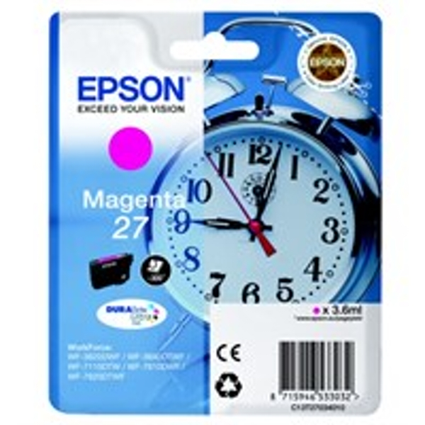 Epson C13T27034012 (27) Ink cartridge magenta, 300 pages