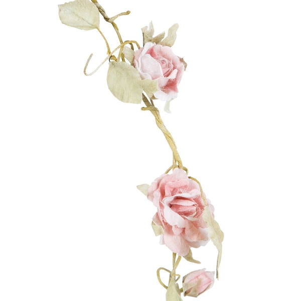 Sass & Belle Light Pink Rose Garland