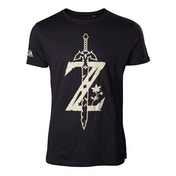Nintendo Legend of Zelda - Big Z Logo with Sword Men's Medium T-Shirt - Black
