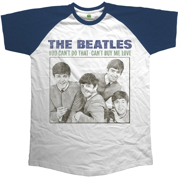 The Beatles - You Can't Do That - Can't Buy Me Love Unisex Large T-Shirt - Blue,White