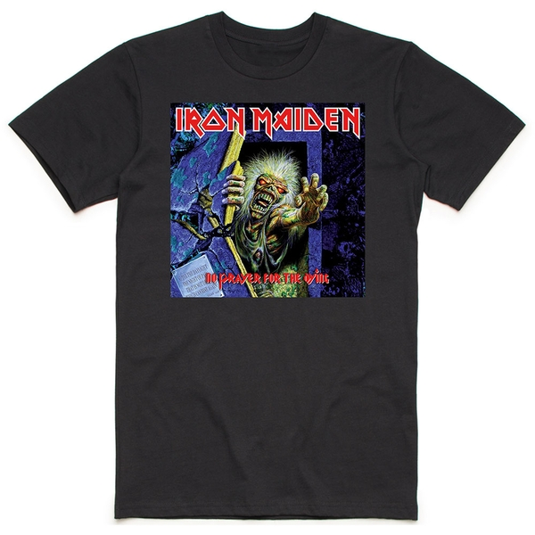 Iron Maiden - No Prayer for the Dying Men's Large T-Shirt - Black