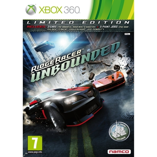 Ridge Racer Unbounded Limited Edition Game Xbox 360