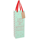 Lets Get Merry Bottle Giftbag Pack Of 6