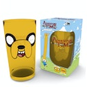 Adventure Time Jake Face Coloured Glass Premium Large Glass