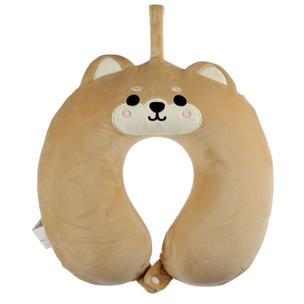 Relaxeazzz Cutiemals Shiba Inu Dog Plush Memory Foam Travel Pillow