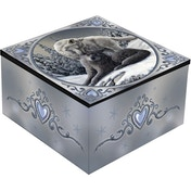 Snow Kisses Wolf Mirror Box