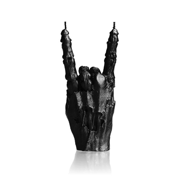 Black Metallic Zombie Hand RCK Candle