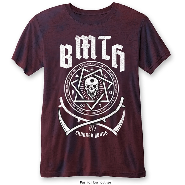 Bring Me The Horizon - Crooked Young Unisex Large T-Shirt - Blue,Red