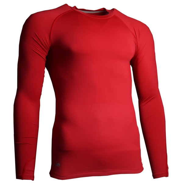 Precision Essential Base-Layer Long Sleeve Shirt Red - L Junior 28-30""