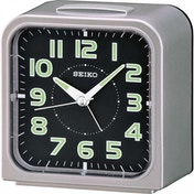Seiko QHK025S Wecker Alarm Clock Silver with Black Face