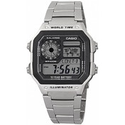 Casio World Time LCD Watch Stainless Steel