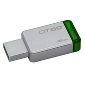 Kingston DataTraveler 50 16GB USB 3.0/3.1 Silver and Green USB Flash Drive