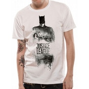 Justice League Movie - Batman Silhouette Men's Small T-Shirt - White