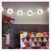 Scrabble Lights with 60 Re-Usable Stickers UK Plug