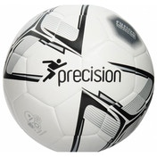 Precision Rotario Match Football White/Black/Silver Size 5
