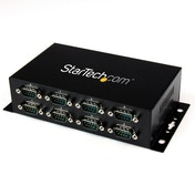 StarTech 8 Port USB to DB9 RS232 Serial Adapter Hub Industrial DIN Rail and Wall Mountable