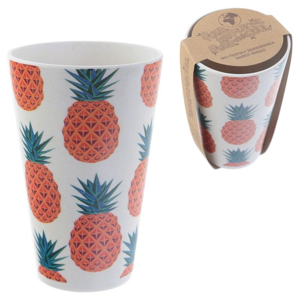 Bambootique Eco Friendly Pineapple Design Cup