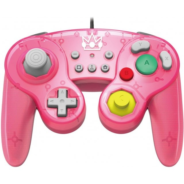 Hori Battle Pad (Peach) Gamecube Style Controller for Nintendo Switch