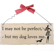 I May Not Be Perfect Hanging Sign