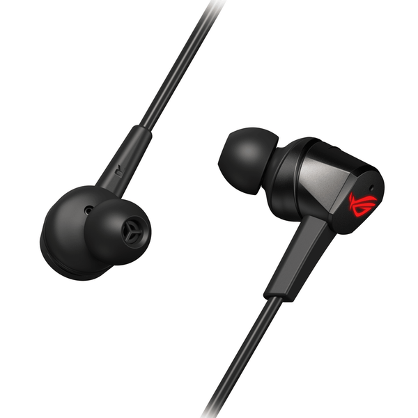 Asus ROG CETRA Gaming In-Ear Earset, USB-C, Inline Microphone, Active Noise Cancellation, 10mm Drivers, Carry Case