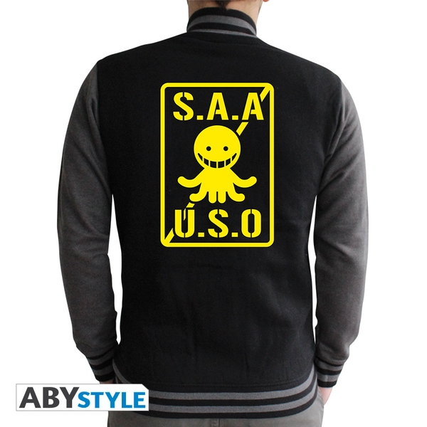 Assassination Classroom - S.A.A.U.S.O Men's Small Jacket - Black/Dark Grey