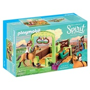 Playmobil Dreamworks Spirit Lucky and Spirit with Horse Stall