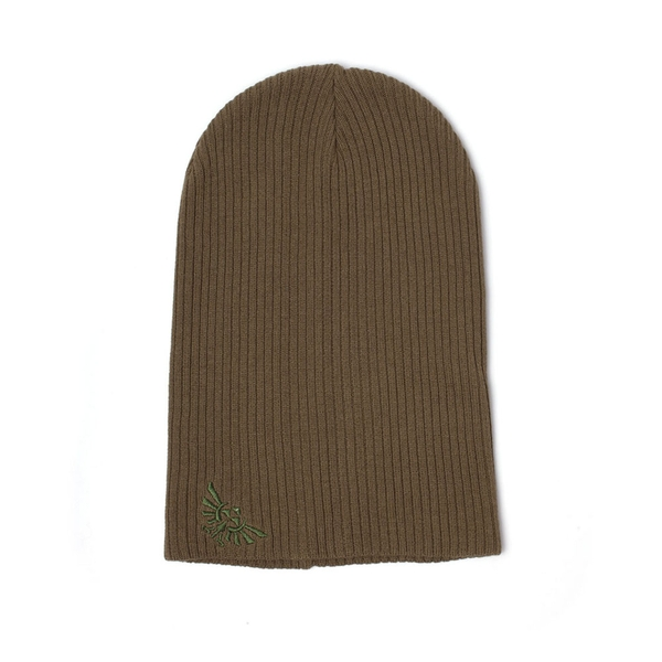 Nintendo - Embroidered Royal Crest Unisex X-Large Beanie - Brown