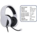 Subsonic White Gaming Headset with Microphone for PS5 - Image 4